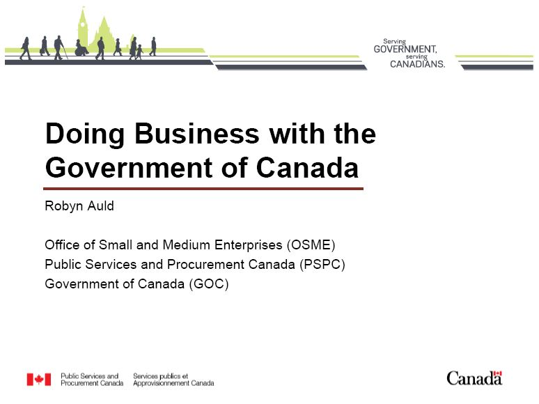 Doing Business With the Government of Canada