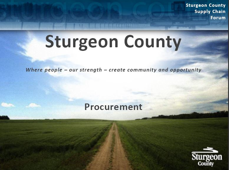 Doing Business with Sturgeon County