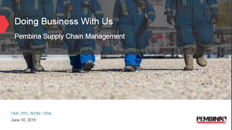Doing Business With Us - Pembina Supply Chain Mgmt