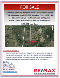 320 Acres of Heavy Industrial Land